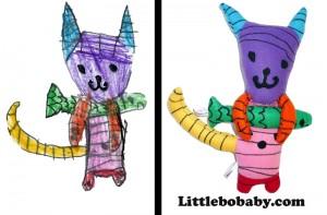 Lbb Catwithfish PlushToyjpg